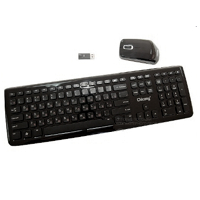 Kl�vesnica CHICONY WUG-1005 wireless piano black +mouse