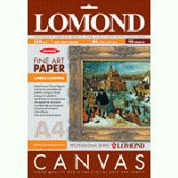 Plátno Lomond Fine Art Natural Cotton Canvas pre atram.tlač, 340 g/m2, A4/10, ul