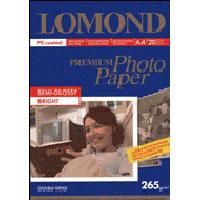 Fotopapier Lomond Premium pre atram.tlač, pololesklý, 265 g/m2, A4/20 Bright, ob